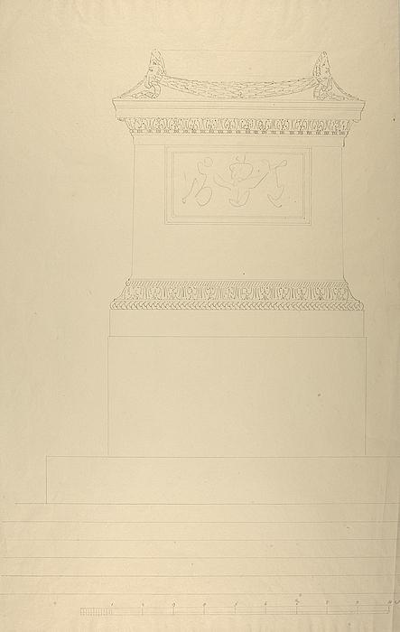 Sokkel til monument over Friedrich Schiller, opstalt
