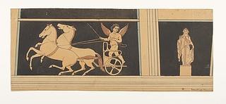 Amorin på vogn med heste der sætter af. Håbets gudinde