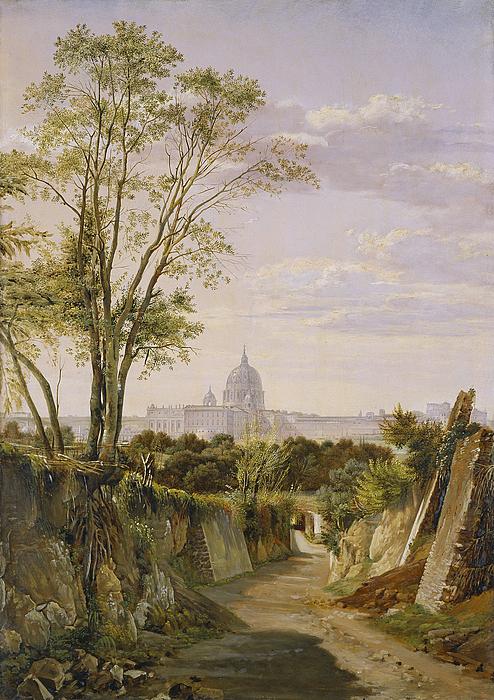 Peterskirken i Rom set fra Via Sacra