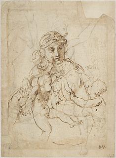 Raffaello Sanzio: Caritas, omkring 1507 (Copyright tilhører Thorvaldsens Museum)
