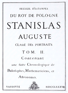 Titlepage of Portfolio no. 39 in the collection of Stanislas August Poniatowski
