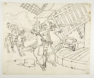 Don Quixote angriber vindmøllerne