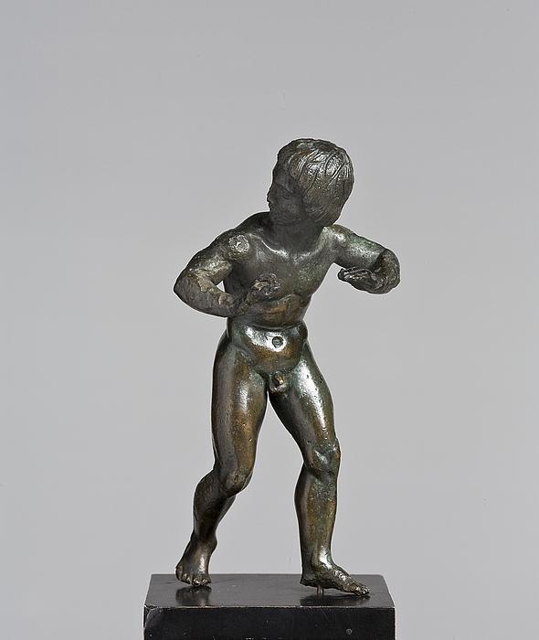 Dansende (?) ung mand. Etruskisk statuette