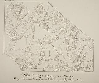 Venus beskytter Paris mod Menelaos