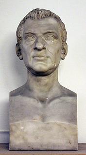 Thorvaldsen: Henrik Hielmstierne, marmor, Det Kongelige Bibliotek