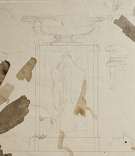 Bertel Thorvaldsen: Skitse til Døbefonten i Brahetrolleborg (detalje), 1805, Copyright tilhører Thorvaldsens Museum