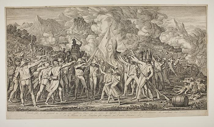 De franske soldater aflægger ed ved Montenesino (Monte Legino)