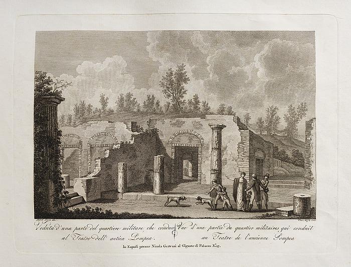 Veduta d'una parte del quartiere militare, che conduce al Teatro dell' antica Pompea