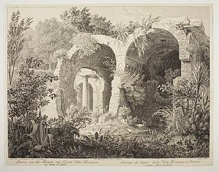 Ruinen aus den Bädern von Ciceros Villa Formiana ( Ruiner af badene i Ciceros Villa Formiana )