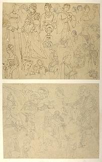 Kvinder i renaissance dragter. St Ephesius' omvendelse og mirakler
