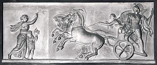 Alexander den Store på triumfvognen