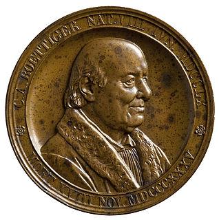 Medalje forside: Arkæologen Karl August Böttiger