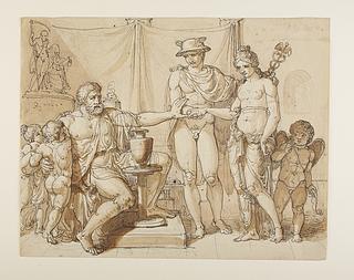 Merkur fører Pandora til Epimetheus