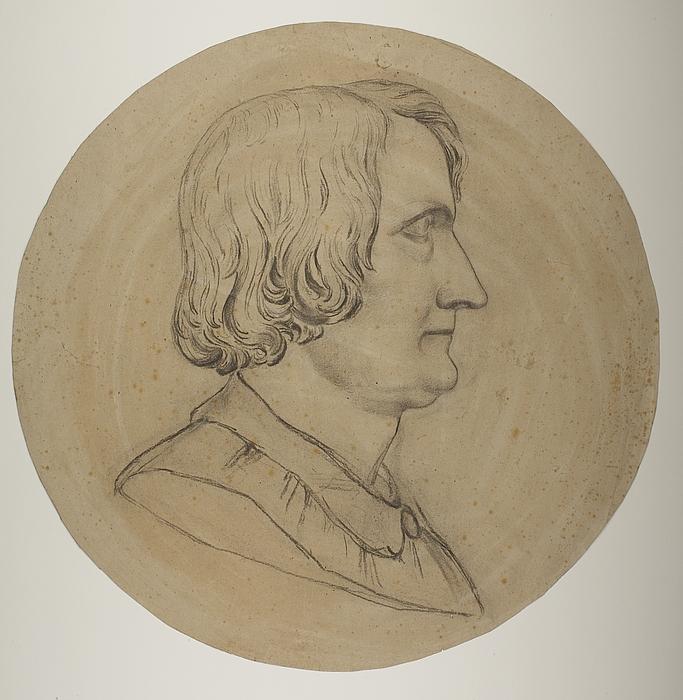 Portrætmedaljon af Thorvaldsen