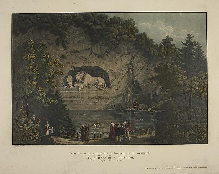 Døende løve (Schweizerløven) i Luzerne
