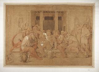 Sokrates og Alkibiades ved Agathons Gæstebud