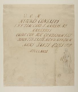 Udkast til indskrift til kardinal Consalvi's gravmæle