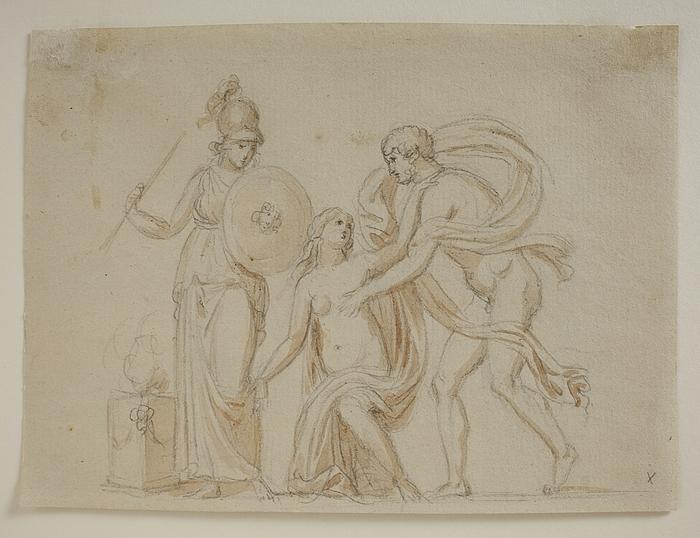 Aiax røver Kassandra i Athenas tempel