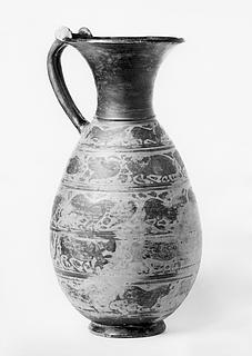 Olpe med dyrefriser. Etrusko-korinthisk
