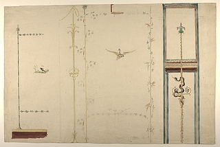 Vægdekorationer fra Pompeji, detaljer