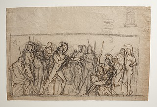 Agamemnons strid med Achilleus. Døbefont