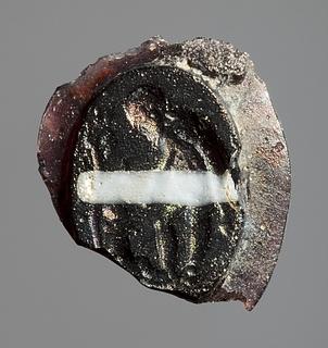 Den spæde Ødipus og en hyrde. Romersk republikansk paste