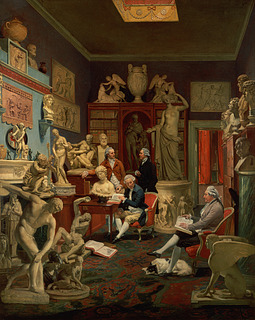 Johann Zoffany: Charles Townley and his Friends in the Park Street Gallery, Westminster, 1783 - Copyright tilhører Towneley Hall Art Gallery and Museum