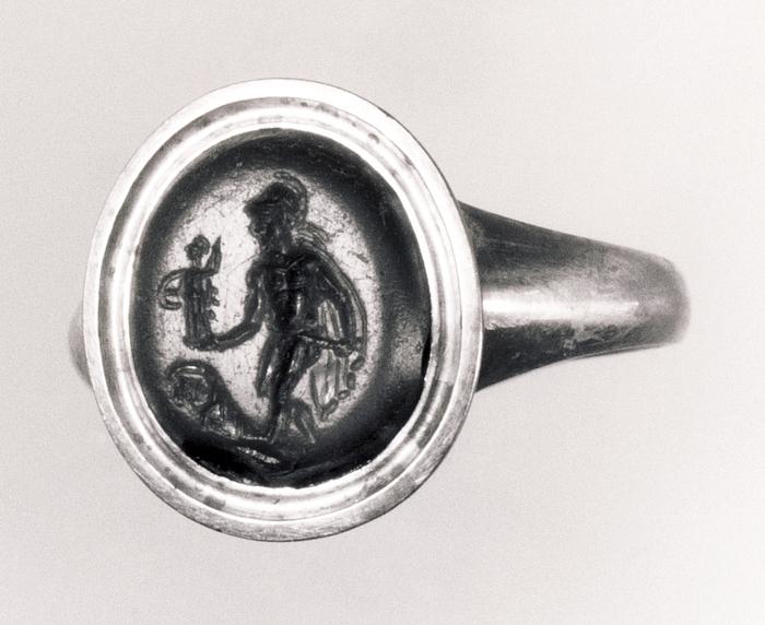 Diomedes med Palladiet. Hellenistisk-romersk ringsten