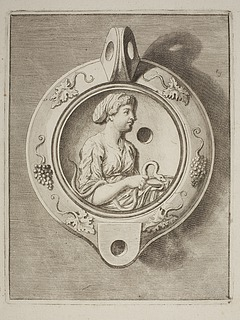 Lampe dekoreret med Hygieia