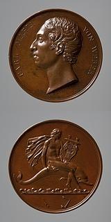 Medalje forside: Carl Maria von Weber. Medalje bagside: Arion på delfinen