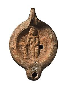 Lampe med den badende Venus (?). Romersk