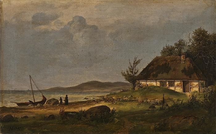 Et parti af kysten ved fiskerlejet Flade ved Frederikshavn