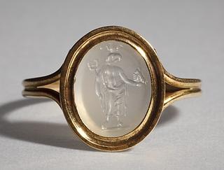 Græsk-ægyptisk guddom. Hellenistisk-romersk ringsten