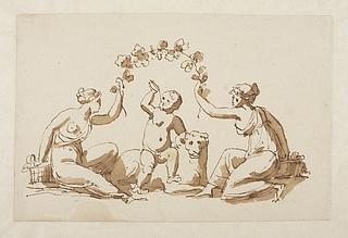 Bacchusbarnet på en panter, to bacchantinder