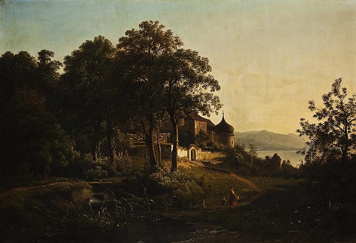Landskab ved Ischldorf i Bayern