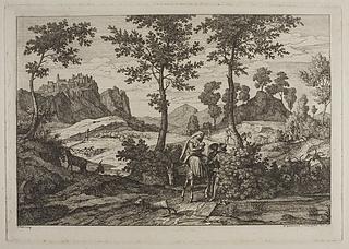 Landskab komponeret i italiensk stil