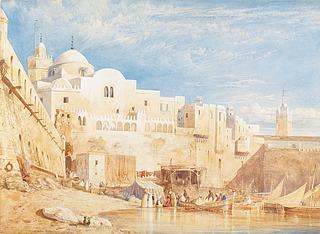 William Wyld, Harbor in Algiers, 1833