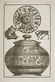 Krukke med ornamentale dyrefremstillinger