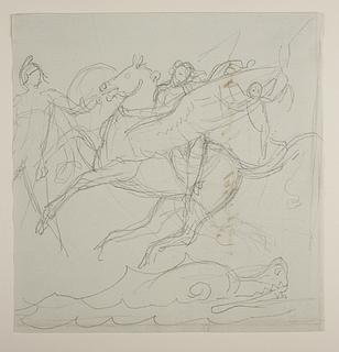 Perseus bortfører Andromeda på Pegasus