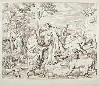 Dante og Vergil møder de vilde dyr i skoven