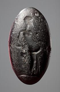 Mænade med en drueklase. Græsk hellenistisk paste
