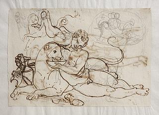 Bacchant (en ung satyr) giver panter at drikke
