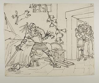 En kat sætter klørne i Don Quixotes næse