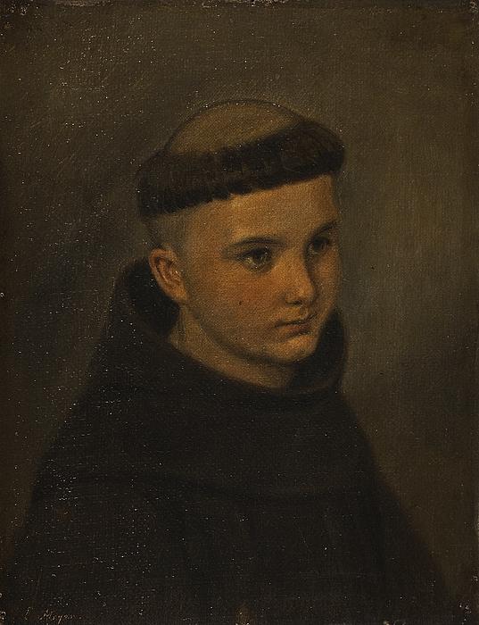 Portræt af en ung franciskaner