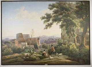 Udsigt over Rom fra Palatinerbjerget ved kejserpaladsets ruiner