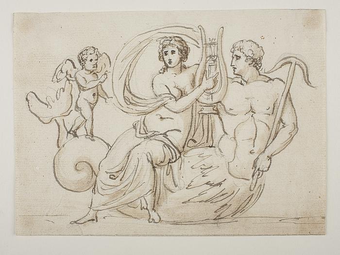 Triton, nereide og Amor