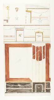 Vægdekorationer fra Pompeji (?), detaljer
