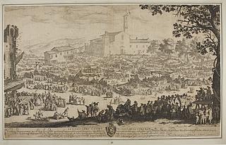 Serenissimo Cosmo Magno Duci Etruriæ ( Markedet ved Santa Maria ad Impruneta på Sankt Lukas' festdag )