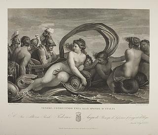 Venere conducendo Enea alle sponde d'Italia ( Venus fører Æneas til Italien )