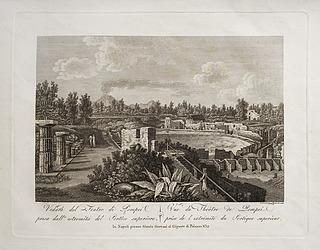 Veduta del Teatro di Pompei presa del'estrimità del Portico superiore